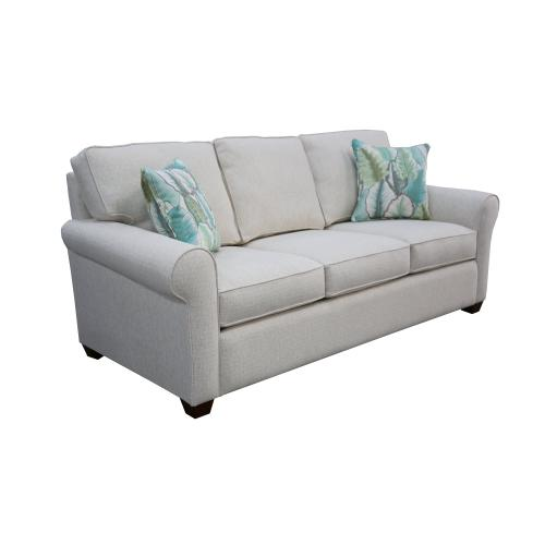 """Capris Furniture - 3 encased back pillows over 3 Convo-Lux seat cushion Queen Sleeper w/ 2-1/2"""" Pyramid legs available in Caramel, Black Cherry, Frost, Driftwood or Walnut finish."""