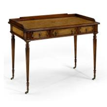 Leather inset dressing table
