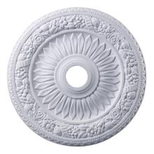 See Details - Floral Wreath Medallion 24 Inch in White Finish