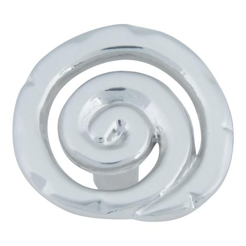 Scroll Knob 1 1/2 Inch - Brushed Nickel