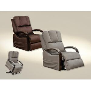 Chandler Power Lift Recliner with Heat & Massage in Walnut Fabric