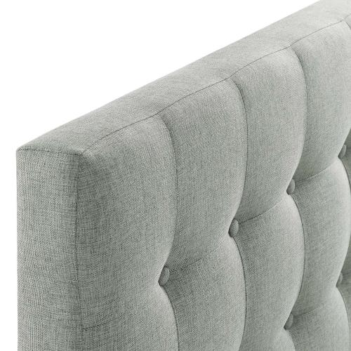 Emily Twin Upholstered Fabric Headboard in Gray