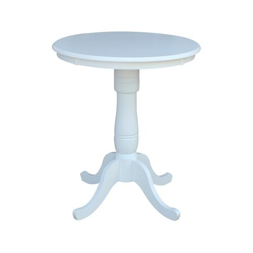 30'' Pedestal Table in Pure White