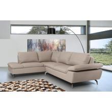 Divani Casa Peony - Modern Grey Eco-Leather Sectional Sofa