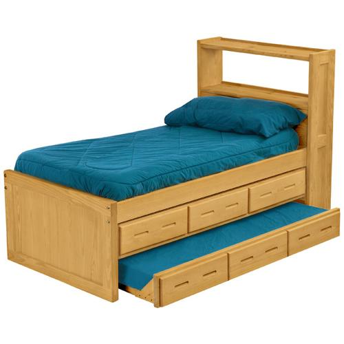 Captain's Bookcase Bed, Twin, extra-long