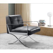 Divani Casa Delano Modern Black Leather Lounge Chair