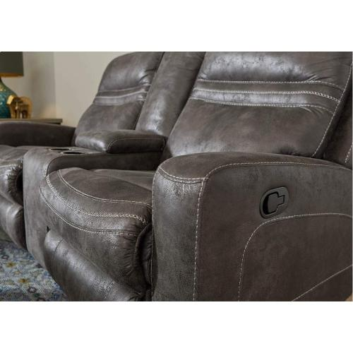 56422 Double Motion Loveseat with Console
