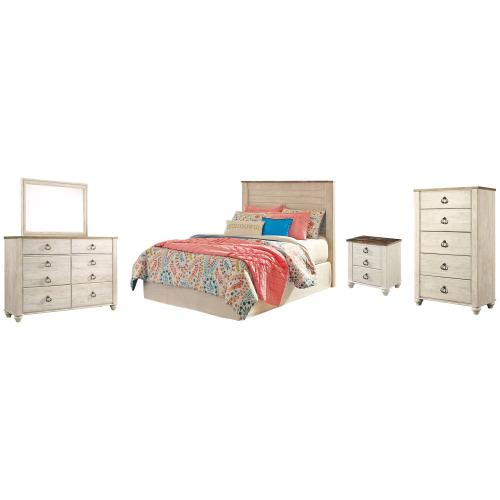 Ashley - Full Panel Headboard With Mirrored Dresser, Chest and Nightstand