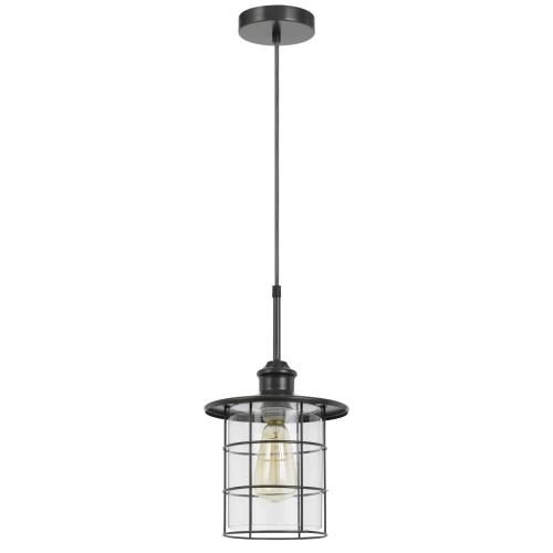 60W Silverton metal/glass pendant fixture (Edison bulbs NOT included)