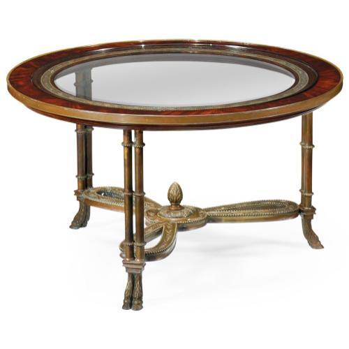 Napoleon III coffee table brass base