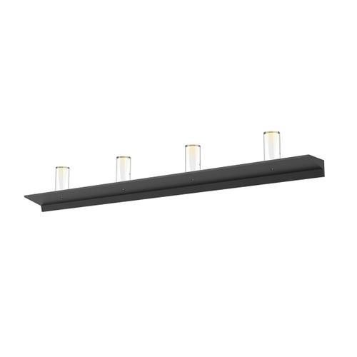 "Sonneman - A Way of Light - Votives LED Wall Bar [Size=4', Color/Finish=Satin Black, Shade Size=4"" height x 2"" diameter]"