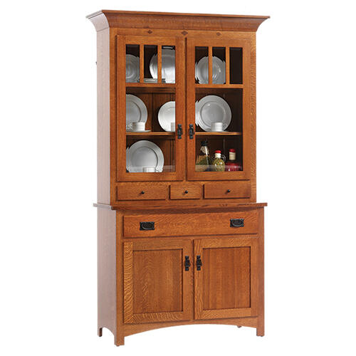 See Details - 2-Door Mission Hutch & Buffet