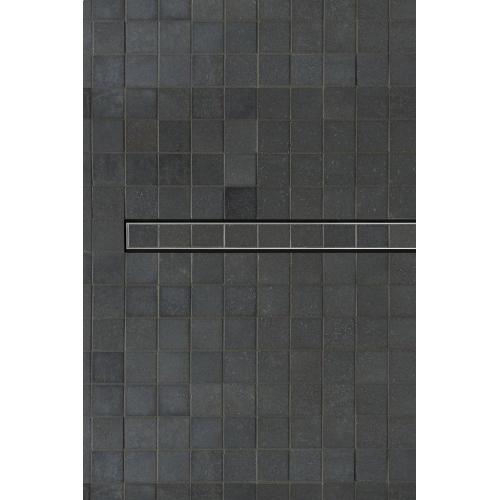 """Universal 48"""" Channel Shower Drain in Blackened Stainless Steel"""