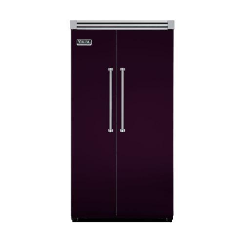 "Viking - Plum 42"" Side-by-Side Refrigerator/Freezer - VISB (Integrated Installation)"