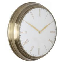 CHAMPAGNE  19in w X 19in ht X 4in d  Metal Wall Clock
