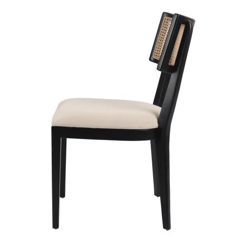 Virgo Rattan Dining Chair, Black/ Natural