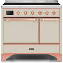 View Product - Majestic II 40 Inch Electric Freestanding Range in Antique White with Copper Trim