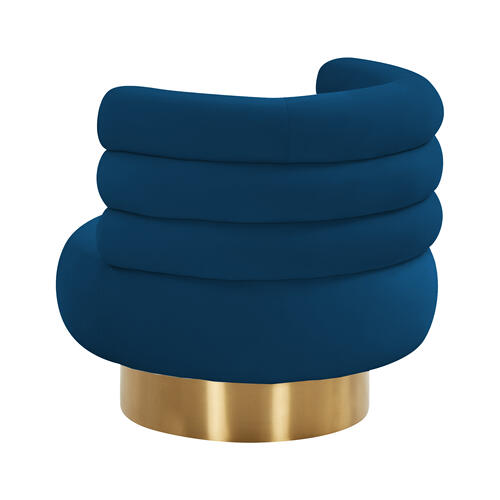 Tov Furniture - Naomi Navy Velvet Swivel Chair