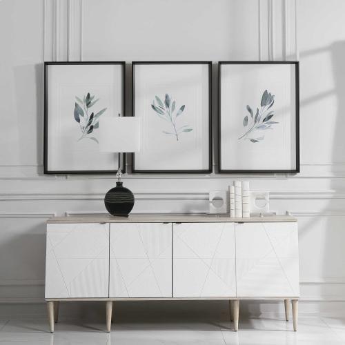 Simple Sage Framed Prints, S/3