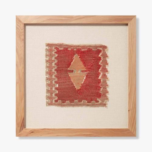 0350820005 Vintage Rug Fragment Wall Art