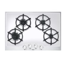 "Stainless Steel/White Glass 30"" Gas Cooktop - DGCU (30"" wide, four burners)"