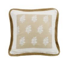 See Details - Newport Framed Throw Pillow W/ Trim, 18x18