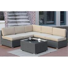 Outdoor 6 Piece Patio Module Sectional