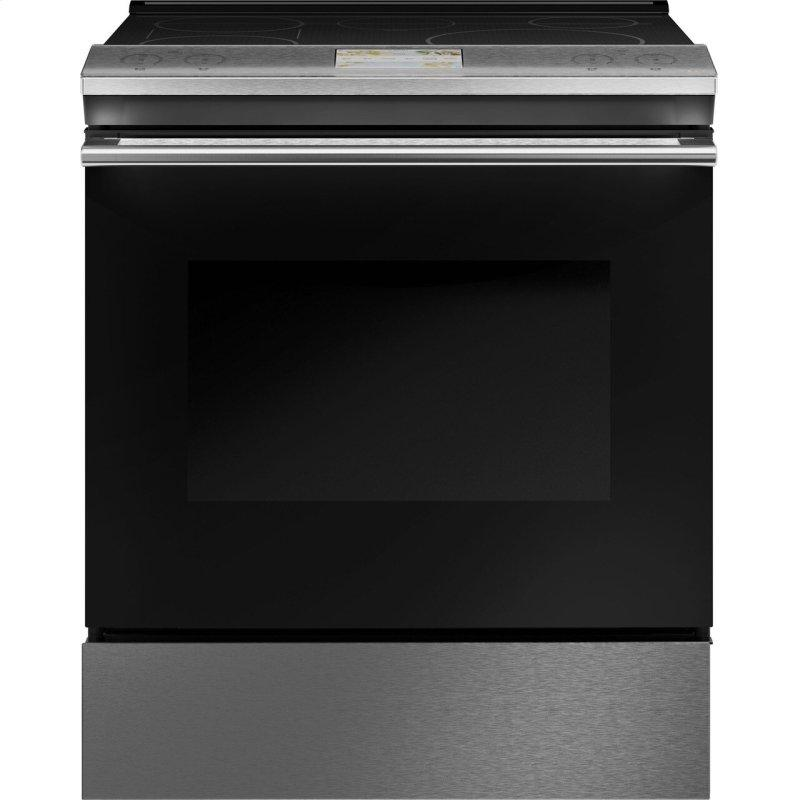 "30"" Smart Slide-In, Front-Control, Induction and Convection Range in Platinum Glass"