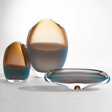 Oval Vase-Pistachio Amber-Lg