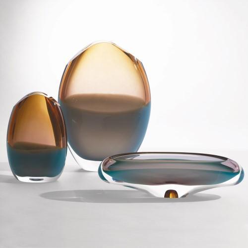 Oval Vase-Pistachio Amber-Sm
