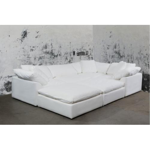 Cloud Puff Slipcovered Modular Sectional Sofa - 391081 (6 Piece)