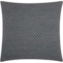 "Couture Nat Hide Pd280 Grey 20"" X 20"" Throw Pillow"