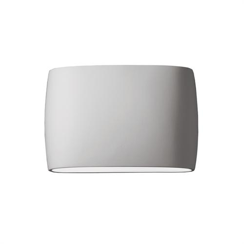 Wide ADA Large Oval Wall Sconce (Outdoor) - Closed Top