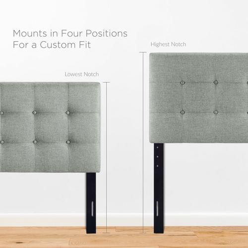 Modway - Emily Full Upholstered Fabric Headboard in Gray