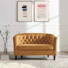 Prospect Performance Velvet Loveseat in Cognac