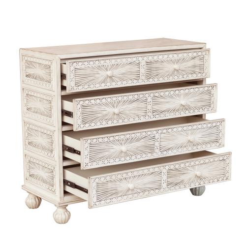 Accentrics Home - Traditional Grey Hand Painted Four Drawer Accent Storage Chest