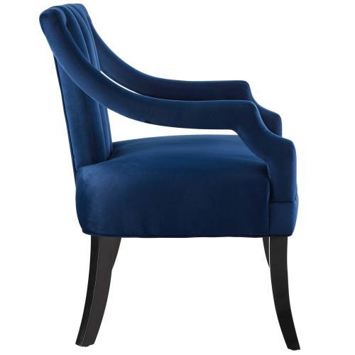 Modway - Harken Performance Velvet Accent Chair in Navy