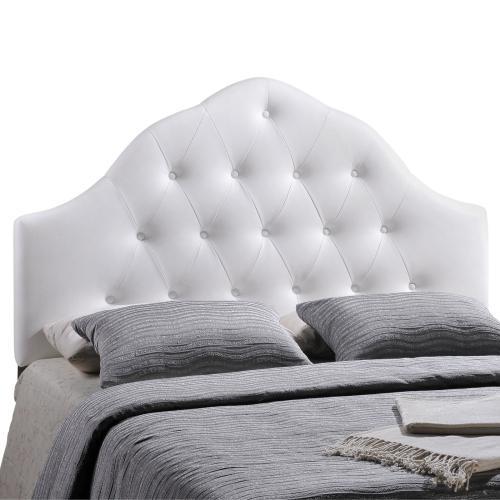 Sovereign King Upholstered Vinyl Headboard in White