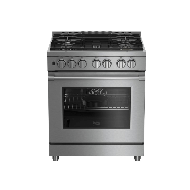 """30"""" Stainless Steel Pro-Style Dual Fuel Range"""