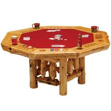 Poker Table - 8-sided - Natural Cedar - Armor Finish