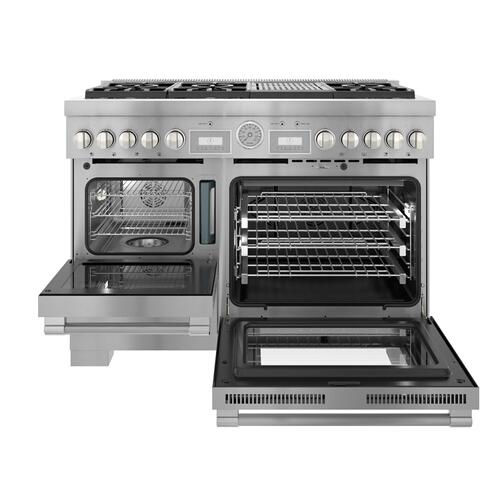 Dual Fuel Professional Range 48'' Pro Grand® Commercial Depth PRD48WLSGU