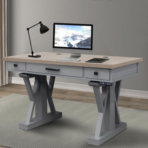 "AMERICANA MODERN - DOVE 56"" Power Lift Desk"