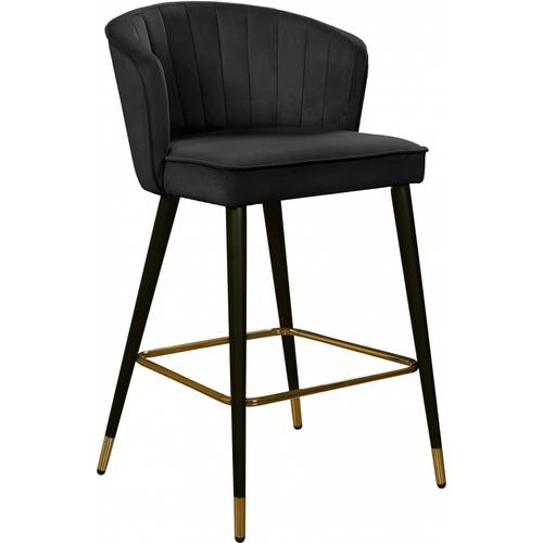 "Cassie Velvet Counter Stool - 20"" W x 21"" D x 36.5"" H"