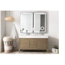 "Linear 59"" Double Bathroom Vanity, White Washed Walnut"