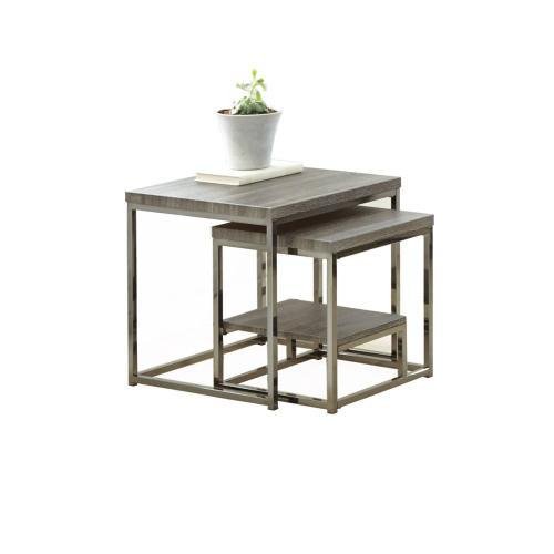 Lucia Nesting Table Gray/ BlackNickel