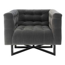 Myra Modern Tufted Accent Chair - Charcoal