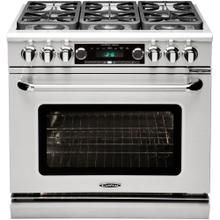 "36"" Range w/4 Sealed Burners @ 19K BTU's/hr + 12"" Broil Burner @ 18K BTU"