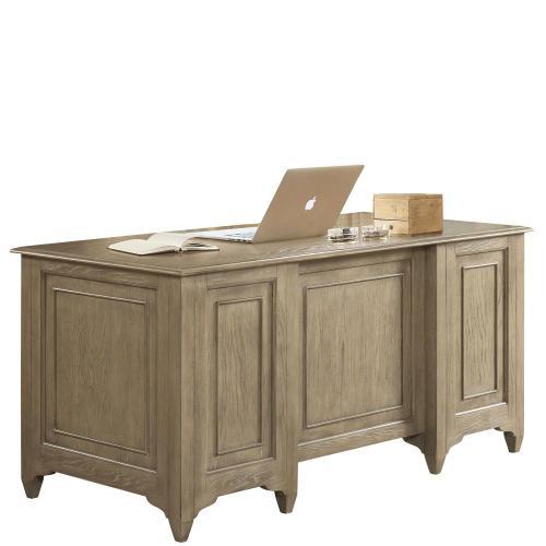 Riverside - Myra - Executive Desk - Natural Finish