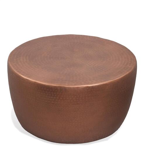 Drum Coffee Table - Rose Finish