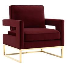 Avery Maroon Velvet Chair